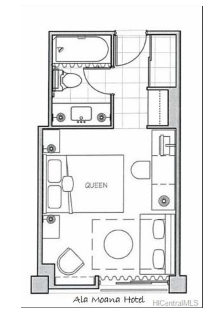 Ala Moana Hotel Room Layout