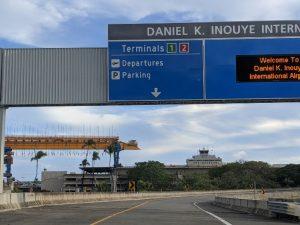 エアポートターミナルとモノレール